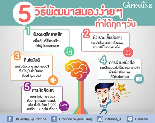 5 วิธีพัฒนาสมอง